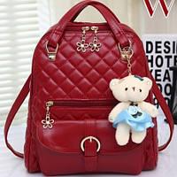 Стеганный рюкзак Элит с брелком, 2 цвета