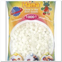 Светящиеся бусины для термомозаики  светло-зеленые 1000шт 5 мм Hama 207-55