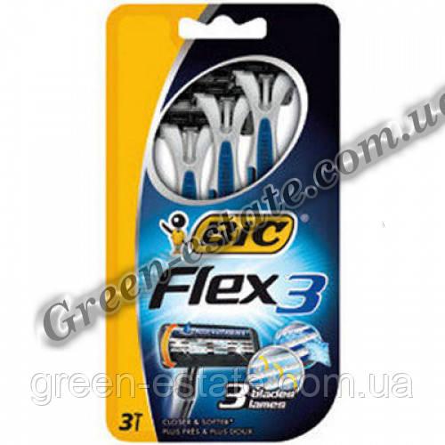 "Станки для бритья flex 3 comfort блистер ""Bic"", 3 шт"