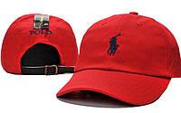 Кепка Cap by Ralph Lauren, красная с черным значком