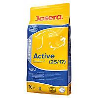 JOSERA Active (25/17) для  активных собак и в период реабилитации 20кг