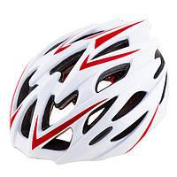 Шлем (велошлем) защитный от падений взрослый VELOS 504 (белый)