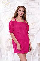 Короткое женское малиновое платье-сарафан А43 Arizzo 44-54 размеры
