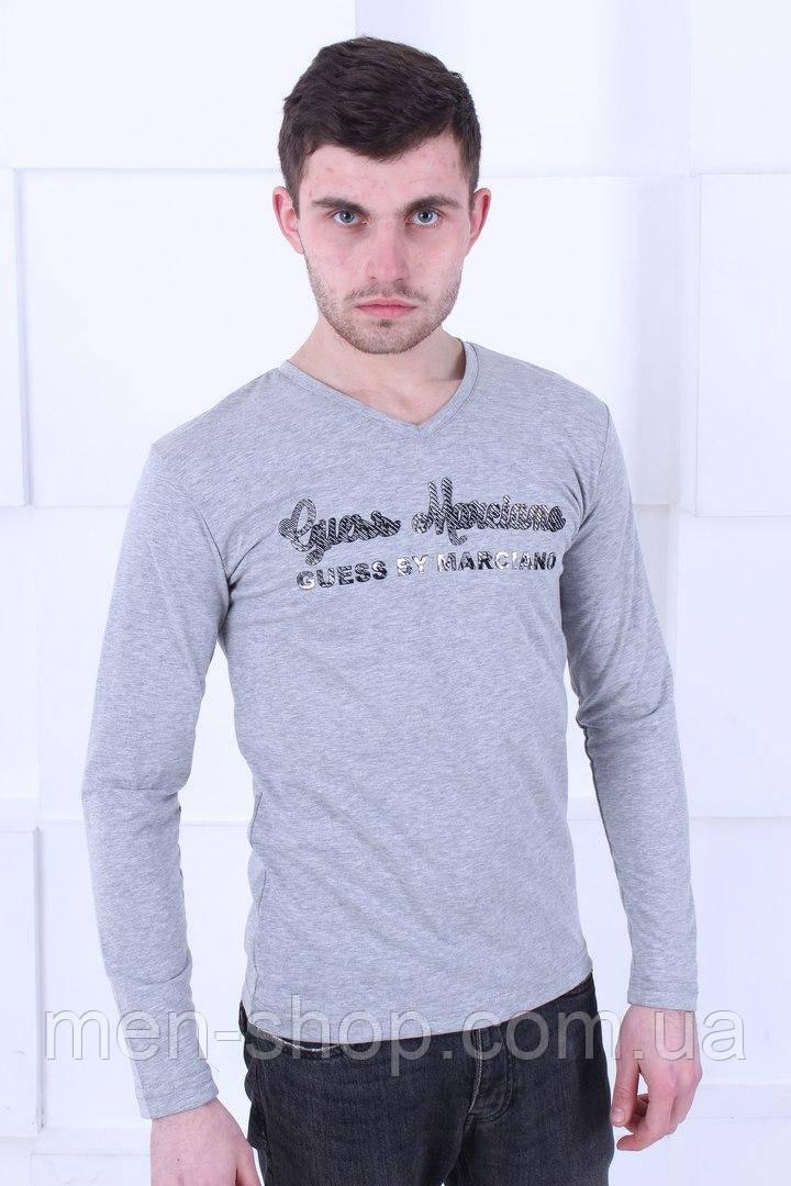 Легкий лонгслив Armani серого цвета