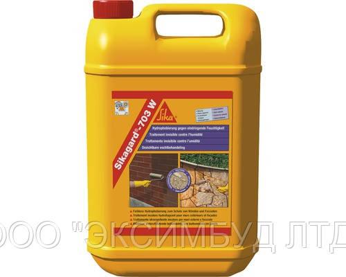 Sikagard-703 W - Гидрофобизирующая пропитка  для защиты фасадов на водной основе, 5 л
