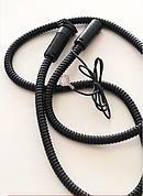 Кабель с бамперным разъёмом для подогревателя (черный)