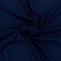 Палантин из хлопка синий