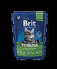 Brit Premium Sterilized корм для стерилизованных кошек, 300 г