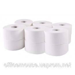 Туалетний папір Джамбо,білий 2шар.96м,12шт-уп.