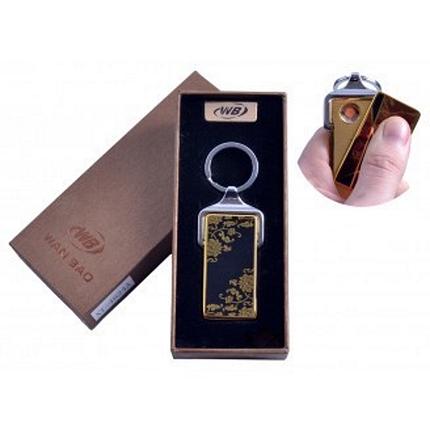 """Спиральная USB-зажигалка """"Цветы"""" №4824A-2, стильный и модный гаджет, в виде брелка, подарочная коробка, фото 2"""