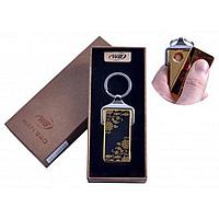 """Спиральная USB-зажигалка """"Цветы"""" №4824A-2, стильный и модный гаджет, в виде брелка, подарочная коробка"""