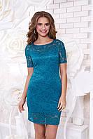 Бирюзовое гипюровое платье А42 Arizzo 44-54 размеры