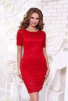 Красное гипюровое платье А42 Arizzo 44-54 размеры