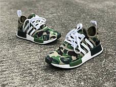 мужские кроссовки Bape X Adidas Nmd Green Camo купить в интернет