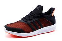 Кроссовки Adidas Bounce, мужские, текстиль  черные с коралловым, р. 41 42 43 44 45
