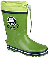 Детские резиновые сапоги Coqui Ronie Зеленые с темно-синим 003501