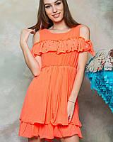 Оранжевое женское платье (805 br)