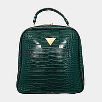 Сумка-рюкзак зелена під крокодила / Сумка-рюкзак зеленая под крокодила