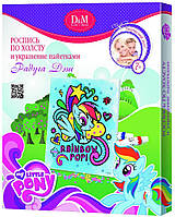 Роспись по холсту и украшение пайетками Рэйнбоу Дэш My Little Pony 25х30см D&M