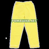 Детские летние лосины (леггенсы) р. 110 для девочки тонкие ткань СТРЕЙЧ-КУЛИР 95% хлопок 3614 Желтый