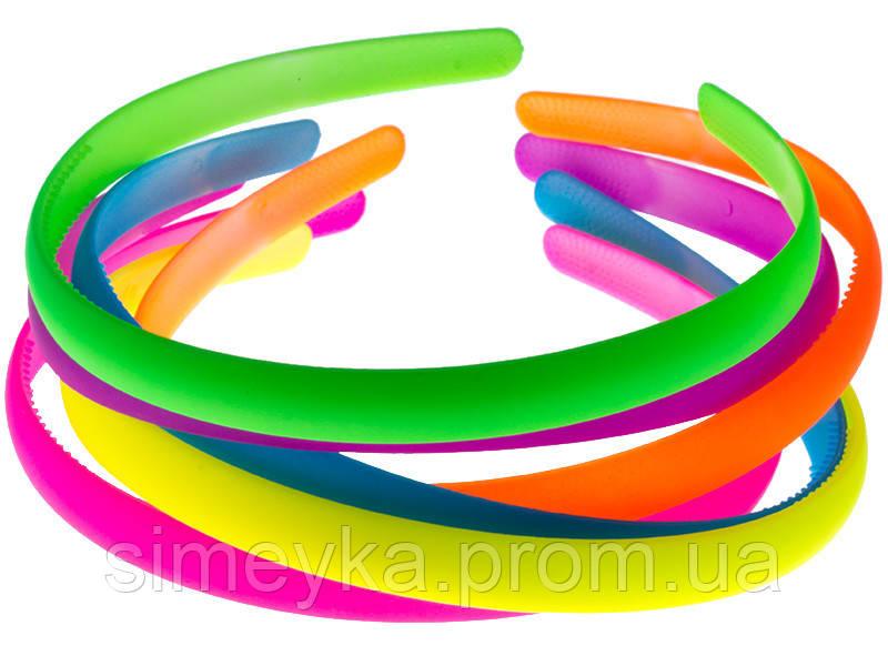 Обруч для волос пластиковый, 12 мм цветной,упаковка 6 шт.