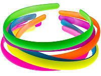 Обруч для волос пластиковый, 12 мм цветной,упаковка 6 шт., фото 1