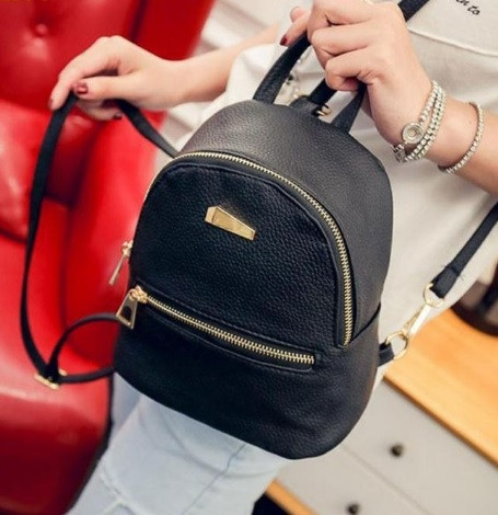 Маленький женский рюкзак. Черный.