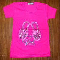 Стильная футболка для девочки 110, 128 рост