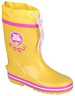 Детские резиновые сапоги Coqui Ronie Желтые с розовым 003503