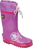 Детские резиновые сапоги Coqui Ronie Фиолетово-розовые 003504