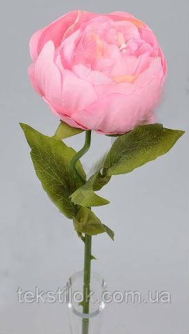 Пион  одинарный  розовый 50 см Цветы искусственные