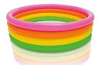 Бассейн для детей от 2 лет Intex 56441 Пылающий закат, объем 617 л, 168х41 см, 4 кольца, винил