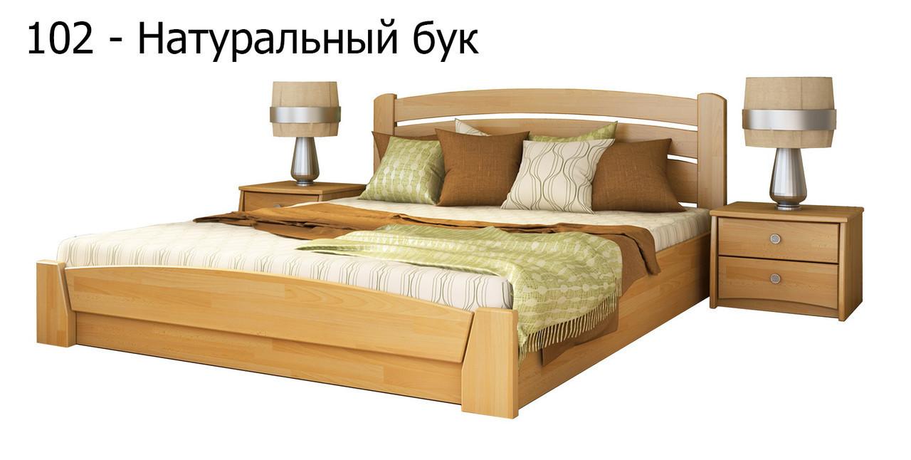 Кровать Селена Аури с подъемный механизмом фабрика Эстелла Бук Щит, 120х190, 102 Бук Натуральный