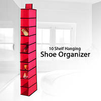 Органайзер для обуви, подвесной, кабельный, на 10 секций, 1000337