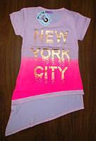 Стильная туника футболка для девочки 134, 140, 146, 152 рост