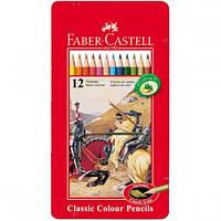Цветные карандаши в металической коробке арт.115844 Faber Castell, фото 1