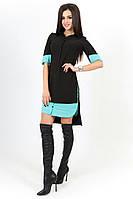 Платье - рубашка чёрное