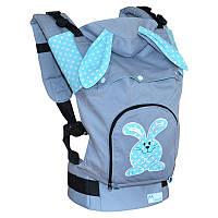 Эргономичный рюкзак Зайчонок, с ушками, фото 1