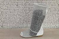 Летние ажурные белые сапожки сетка с открытым носком. Арт-01
