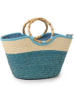 Летняя сумка корзина соломенная