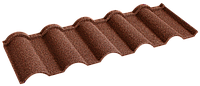 Металочерепица композитная 30 Verona Terracota (0,45) 1 тайл Queen Tile