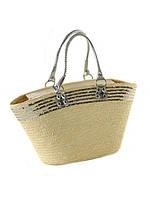 Летняя сумка из соломы