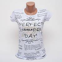 Женская футболка с принтом Звезда Perfect цвет белый p.44-46 Gusse 5746 SS21-2