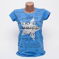 Женская футболка с принтом Звезда Perfect цвет голубой p.44-46 Gusse 5746 SS21-3
