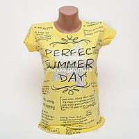 Женская футболка с принтом Звезда Perfect цвет желтый p.44-46 Gusse 5746 SS21-4