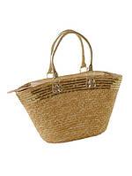Летняя женская сумка из соломки