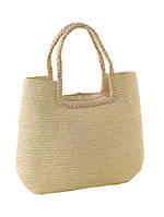 Плетеная сумка из соломы