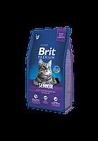 Brit Premium Senior корм для пожилых кошек, 8 кг, фото 1