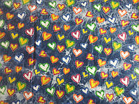 Джинс облегченный вареный Сердечки (желтый, зеленый, голубой) (арт. 04282)