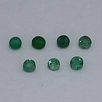 Изумруд зеленый круг 3 мм. 0,15 карат